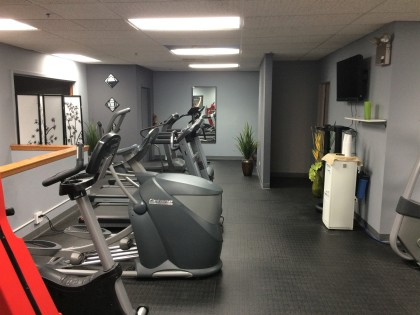 View of cardio room in our personal training gym.